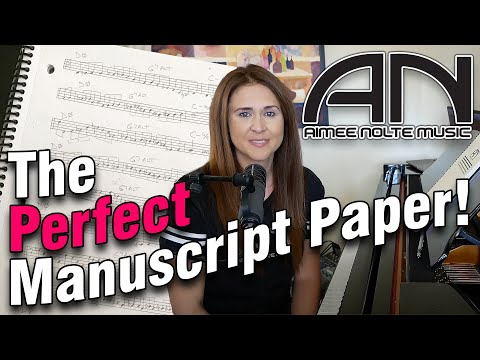 The Perfect Manuscript Paper!