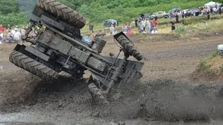 Бизон Трек Шоу-2014 Переворот трактора.