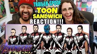 Avengers Endgame Trailer Spoof - TOON SANDWICH - REACTION!!!