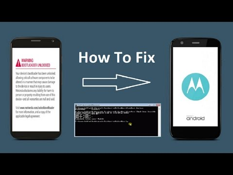 How to remove/fix warning bootloader unlocked message in motorola