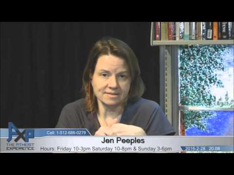 Atheist Experience 20.08 with Russell Glasser and Jen Peeples