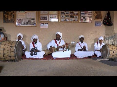 Berber musicians play Gnawa music