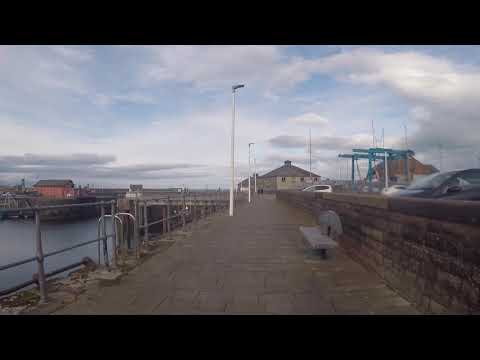 Whitehaven Harbour - A walk from the shoal of fish statue to the lighthouse