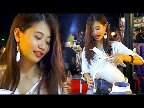 Thumbnail: The Most Sweetest Milkshake Ever - Drink Bangkok Thailand Street Food Night Life with Beautiful Girl