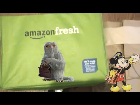 Unboxing Amazon Fresh  Delivery!