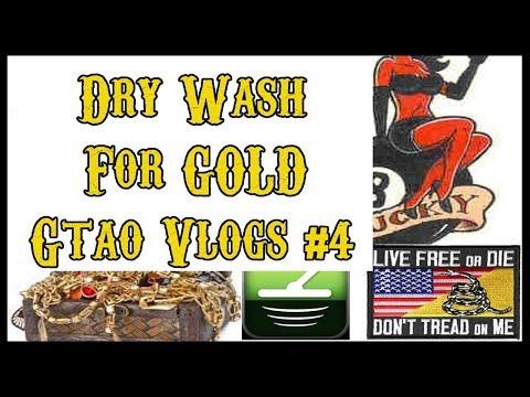 Dry Washing For GOLD   Treasure Hunting USA   GTAO Vlogs