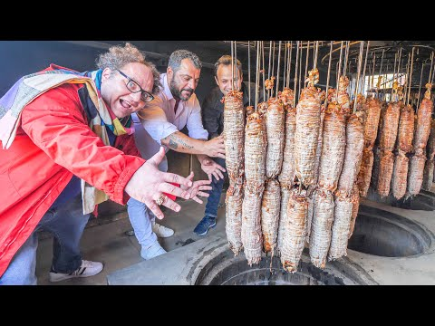 Most UNIQUE Street Food in Turkey – UNDERGROUND Kokorec FACTORY + Street Food Tour of Istanbul!!!