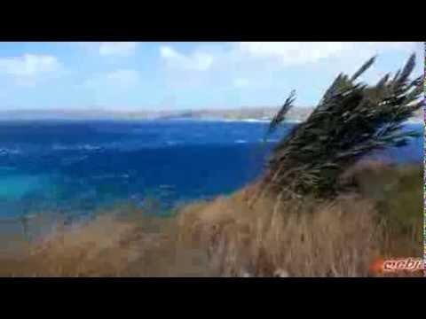 Crete - Rough sea in the bay souda