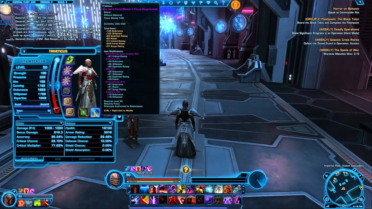swtor sith assassin stats gear guide for 1 5 full hd star wars the rh youtube com star wars the old republic artifice guide star wars the old republic guide pdf