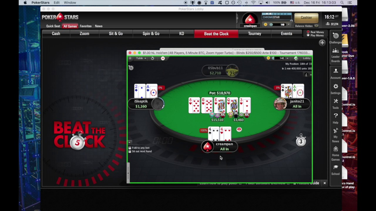 Beat The Clock Pokerstars
