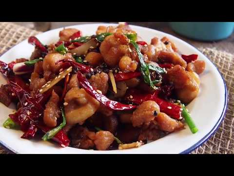Easy Chinese Recipe: Sichuan Spicy Chicken 辣子鸡