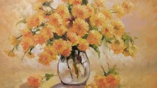 Мастер Класс живописи Александра Южакова Цветы в вазе