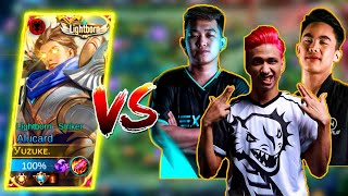 Yuzuke Vs Dogie,Renejay and Jeymz! | Top Global Alucard Vs NXP Pro MPL Players Who Will Win?!| MLBB
