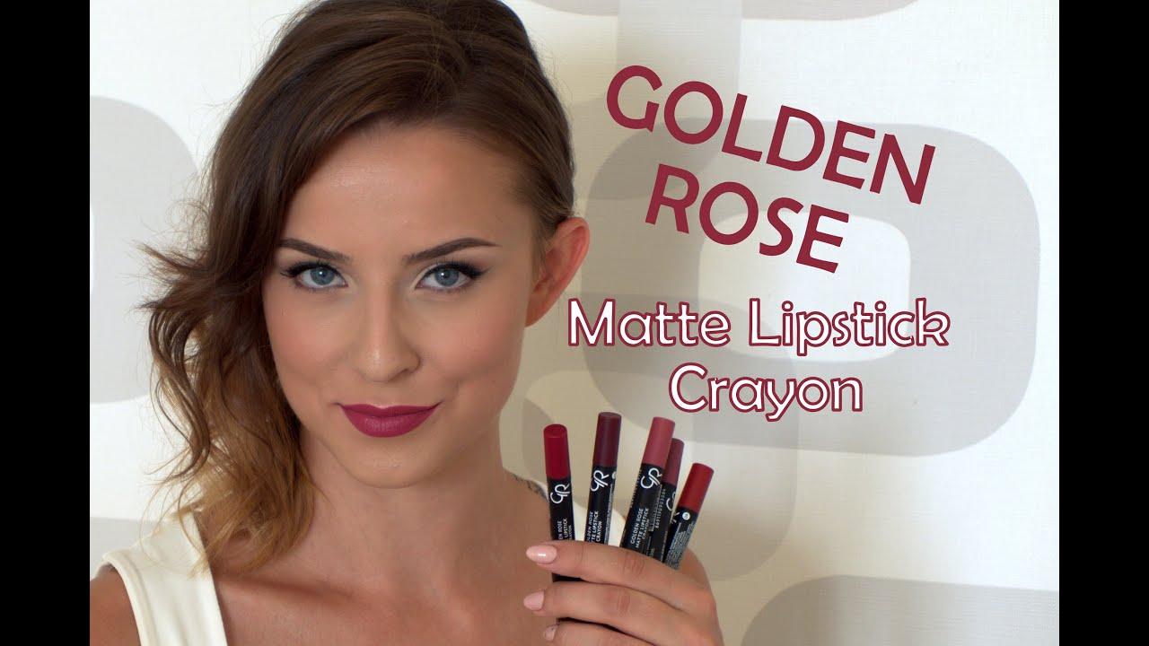 Golden Rose Matte Lipstick Crayon Lip Swatches Misstweed Youtube