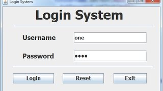 How to Create a Login Systems in Java Eclipse