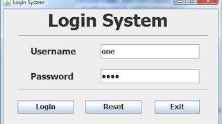 So Erstellen Sie ein Login-Systeme in Java Eclipse