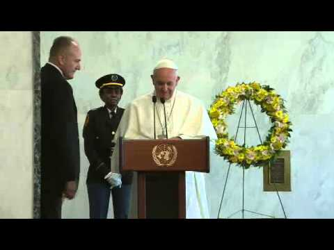 His Holiness Pope Francis Greets United Nations Staff
