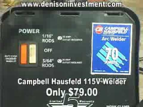 hqdefault campbell hausfeld 70a arc welder denisoninvestment com youtube campbell hausfeld 70 amp arc welder wiring diagram at eliteediting.co