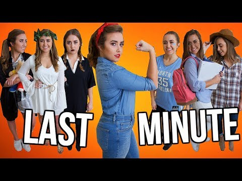12 Last-Minute Halloween Costumes Using Items You ALREADY Own! | Halloween 2019