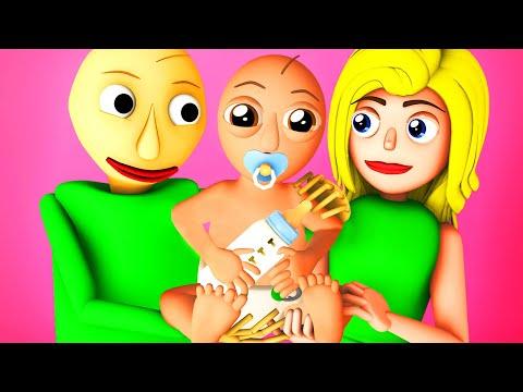 Baldi's Baby – Baldic (Baldi's Basics Son Girlfriend Baldina 3D Animation)