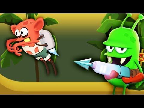 ОХОТА НА ЗОМБИ новый РЕАКТИВНЫЙ ЗОМБАРЬ Мультик игра для детей Zombie Catchers