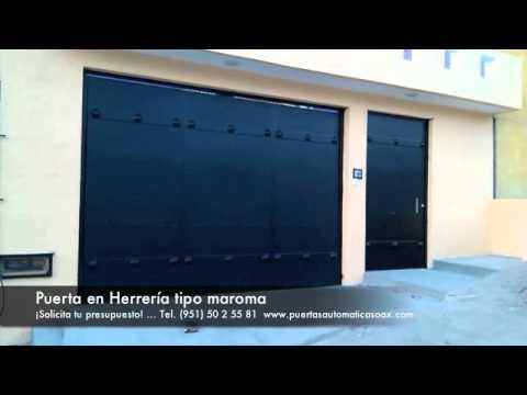 Puerta maroma en herrer a youtube - Puertas de cochera ...