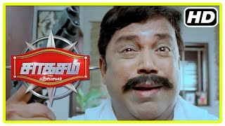 Saahasam Tamil movie | Scenes | Papers report Prasanth to be no more | Thambi Ramaiah takes his care