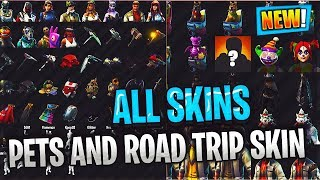 FORTNITE SEASON 6 ALL SKINS AND ROAD TRIP SKIN PETS BACK BLINGS AND MUCH MORE!