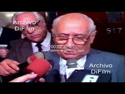 Juan Carlos Pugliese reunion con el diputado Bauza 1989