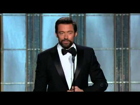 Hugh Jackman wins Best Actor (Comedy or Musical) - Golden Globes 2013