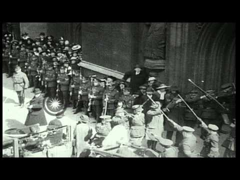 major-richard-lloyd-george-and-roberta-mcalpine-marry-in-bath,-england-during-wor...hd-stock-footage