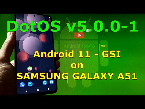 DotOS v5.0.0-1 Android 11 for Samsung Galaxy A51 - GSI ROM