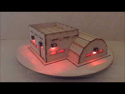 Wargame-model-mods – Troop Barracks – 28mm warhammer Buildings and terrain  – laser cut mdf