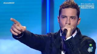 "David Bisbal canta ""Antes que no"" para #GalaUNICEF"