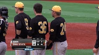 Iowa Baseball Crushes Buckeyes 17 to 2