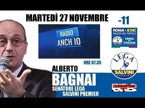 """🔴 Sen. Alberto Bagnai su """"Radio 1"""" (27/11/2018)"""
