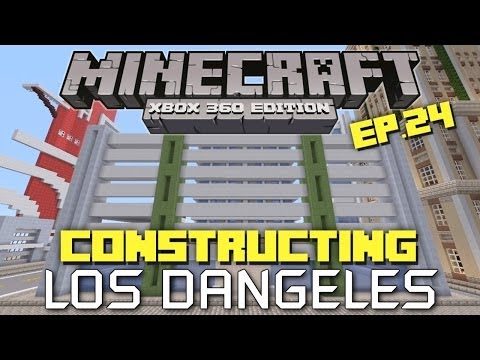 Minecraft Xbox 360: Constructing Los Dangeles - Episode 24! (Parking Garage!)