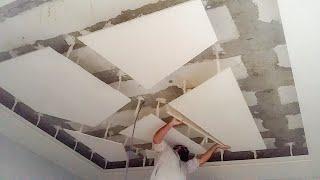 How to gypsum false ceiling, pop false ceiling,