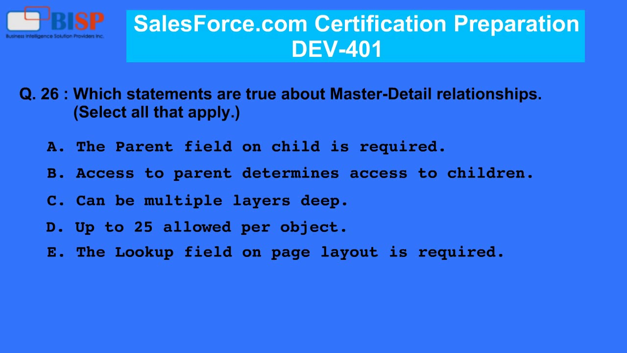 Salesforce Com Dev 401 Certification Preparation P2 Youtube