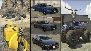 GTA 5: Secret Cars / Rare Cars / Hidden Cars & Unique Vehicles | 40 Spawn Locations [PS4]