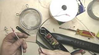 Make a static grass applicator with an electric fly swatter: Part 2