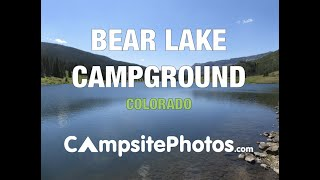 Bear Lake Campground Routt National Forest CO