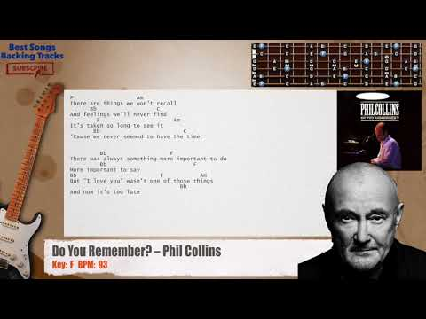 Do You Remember? – Phil Collins Guitar Backing Track with chords and lyrics