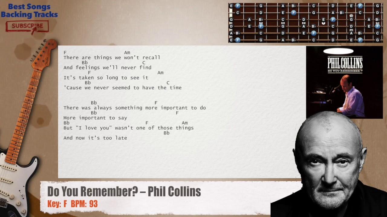 Phil Collins - Do You Remember? Lyrics   Musixmatch