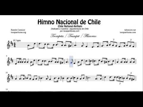 Chile National Anthem Sheet Music for Trumpet
