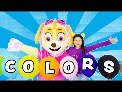 Ceylin & Skye - Learn Colors with Baloons Finger Family Johny Johny Yes Papa Wheels On The Bus Songs