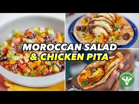 Mediterranean Recipes Moroccan Salad and Chicken Pita