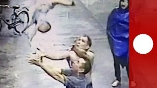 Amazing catch: Baby falls out of window, saved by man in China