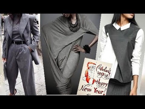 серый в сочетании, в повседневной одежде для женщин за 50.2020.