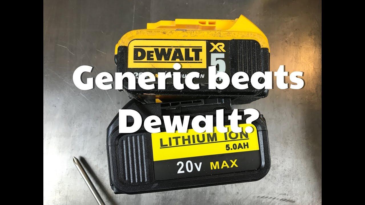 Generic Dewalt Battery From Amazon Vs Genuine Dewalt 20v Lithium Battery Youtube